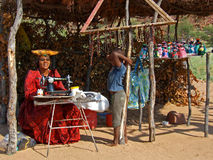 Herero woman and boy Royalty Free Stock Photo