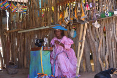 Herero Woman Namibia Royalty Free Stock Photography