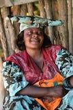 Hererovrouw, Namibië Royalty-vrije Stock Afbeeldingen