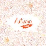 Herfst-blad-achtergrond-13-a stock afbeelding
