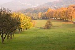 Herfst landschap Royalty-vrije Stock Afbeeldingen