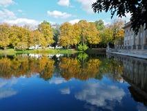 Herfst park royalty-vrije stock foto