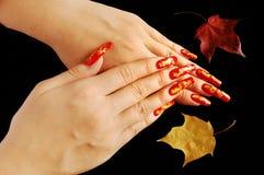 Herfst spijkerontwerp Stock Afbeeldingen