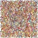 Herfst voel, overlappend tellerslijnen gebaseerd patroon, met pastelkleuren Stock Foto