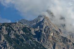 Herfstcorso Italië, de mooie Dolomietbergen dichtbij Cortina D& x27; Ampezzo, Dolomiet, Alpen, Veneto Stock Foto