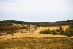 Herfstlandschap van Kakheti-gebied Stock Afbeelding