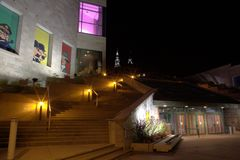 Hergé在魁北克市 库存图片