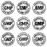 Hergestellt in einem cGMP Anlagenzeichen Lizenzfreie Stockbilder