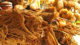 Hergestellte Artikel der Cocconut Faser Stockfotos