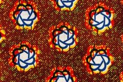 Hergestelltes afrikanisches Gewebe (Baumwolle) stockbild