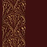 Herhaal Achtergrond met Gouden Zigzagpatroon Royalty-vrije Stock Foto