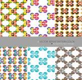 Herhaal achtergrond van de patroon de moderne grafische vectorbloem Royalty-vrije Stock Afbeeldingen