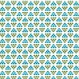 Herhaal blauwe en neutrale geometrische samenvatting, driehoeksachtergrond Stock Afbeeldingen