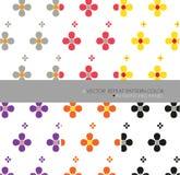 Herhaal het patroon 6 vectorbloemkunst witte achtergrond plaatste Royalty-vrije Stock Afbeelding