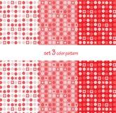 Herhaal het patroon 3 vectorpunten en vierkante kunstachtergrond plaatste Royalty-vrije Stock Afbeelding