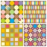 Herhaal patronen (naadloze achtergronden) Royalty-vrije Stock Afbeelding