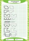 Herhaal patroon Het vinden Lijnenactiviteit, Speciaal voor peuterjonge geitjes Aantekenvel voor het uitoefenen van fijne motorvaa vector illustratie