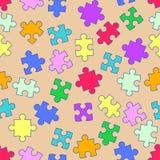 Herhaal patroon met raadsels stock illustratie