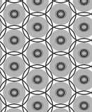 Herhaal punt zwarte en grijze samenstelling om geometrisch abstract vectorpatroon Stock Afbeeldingen