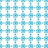 Herhaal van de puntencirkels van de punt blauw geometrisch kleur de bloem abstract vectorpatroon Stock Fotografie
