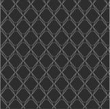 Herhaal zwart-witte geometrische abstracte achtergrond Stock Foto's