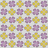 Herhaalbare achtergrond met bloemen voor website, behang, textieldruk, editable textuur, Stock Afbeeldingen