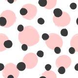 Herhaald die om vlekken met ruwe borstel worden geschilderd Tendens naadloos patroon stock illustratie