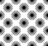 Herhaald patroon met radiaal-uitstraalt lijnen Samenvatting geometr stock illustratie