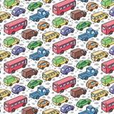Herhaald patroon met vervoerauto's stock illustratie