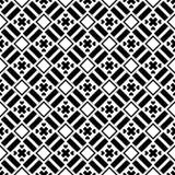 Herhaald patroon zwart-wit vierkant stock illustratie