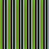 Herhaald textielpatroon met groene lijnen Stock Afbeelding