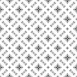 Herhaald zwart-wit patroon als achtergrond vector illustratie