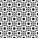 Herhaald zwart-wit patroon als achtergrond stock illustratie