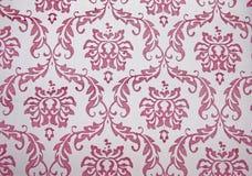 Herhaalde filigraan het Patroon witte Achtergrond van Paisley Royalty-vrije Stock Afbeeldingen