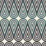 Herhaalde pastelkleur blauwe rond gemaakte het met elkaar verbinden cijfers Naadloos geometrisch ornament Abstract de vormmotief  vector illustratie