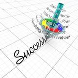 Herhaalde Proces het bedrijfs van de Planning is de sleutel aan Stock Afbeeldingen