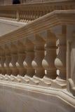 Herhaalde schaduwen en licht op een balustrade Stock Foto