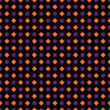 Herhaalde vierkanten en diamanten abstracte achtergrond Geometrisch motief Naadloos patroon in de traditionele kleuren van Hallow vector illustratie