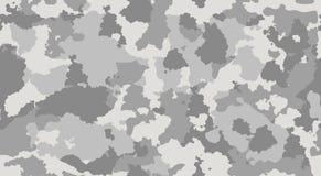 Herhaalt de militaire camouflage van de druktextuur de naadloze leger grijze zwart-wit jacht Royalty-vrije Stock Fotografie