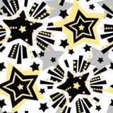 Herhaalt de ster feestelijke druk, naadloos motief, de ambacht expressieve inkt van de Kerstmishand in patroon stock afbeeldingen