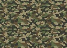 Herhaalt de textuur militaire camouflage naadloos leger Stock Afbeeldingen