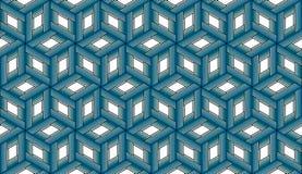 Herhalend Blauwe Kubussen - Tileable-Achtergrond vector illustratie