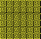 Herhalend labyrint zoals geel ontwerp Stock Fotografie