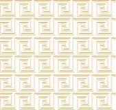 Herhalend labyrint zoals ontwerp rood en groen op wit Royalty-vrije Stock Foto