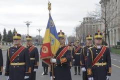Herhaling voor Roemeense Nationale Dagparade Royalty-vrije Stock Foto's