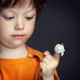 Herida, foco en el finger fotografía de archivo libre de regalías