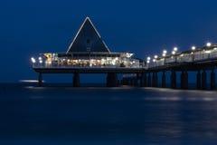 Heringsdorf sea bridge stock photo