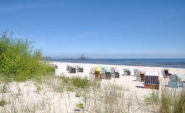 Heringsdorf, Usedom, Mar Baltico, Germania immagini stock libere da diritti