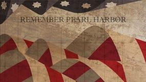 Herinner de Illustratie van de Parelhaven Sterren en strepen op hout Royalty-vrije Stock Foto's