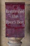 Herinner de Poors-Doos royalty-vrije stock afbeeldingen